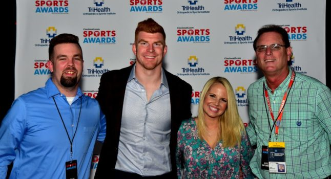 with Cincinnati Bengal Quarterback Andy Dalton and his wife JJ